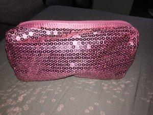 Pailletten Kosmetiktasche Pink