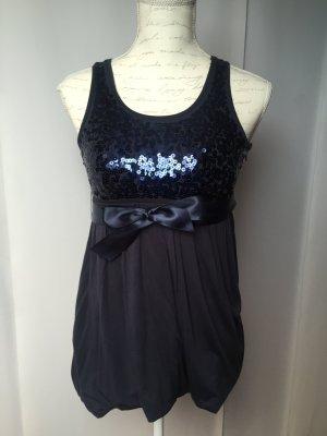 Pailletten Minikleid dunkelblau