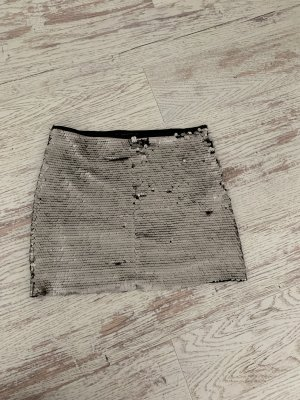 Zara Miniskirt silver-colored