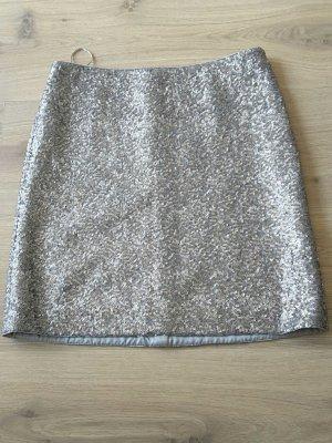 Pailletten Minirock von Esprit collection Gr 34 silber grau