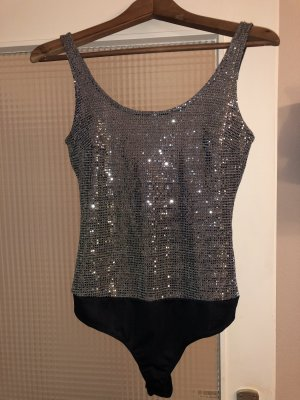 Koton Backless Top silver-colored-black