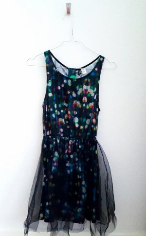 Pailletten Print Kleid