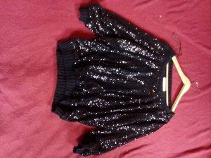 Pailletten Pullover in Schwarz Größe M von Zara