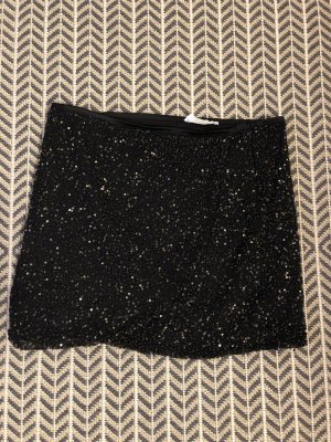 Mango Wraparound Skirt black