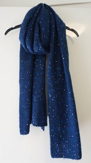 Pailletten Schal Blau