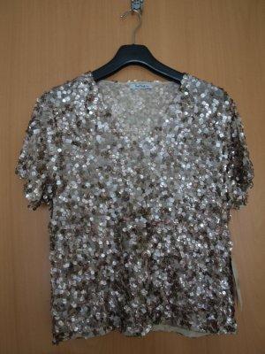 Vera Mont Camisa con cuello V color bronce Poliéster