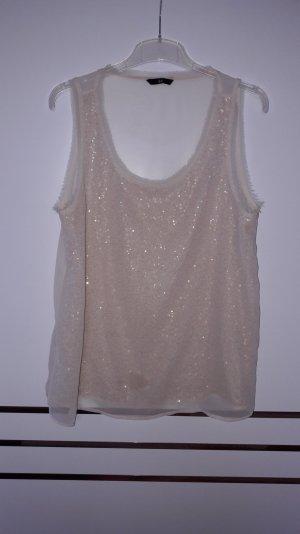 Pailletten Shirt, Größe 42, H&M