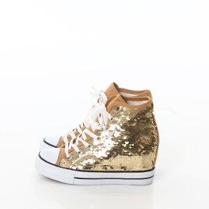 Sneakers met veters goud
