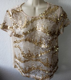 Atmosphere Transparent Blouse gold-colored-oatmeal polyester