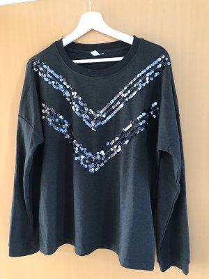 Pailletten Sweatshirt Größe 40