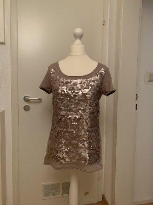 Hallhuber Camiseta marrón grisáceo