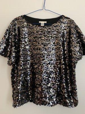 Pailletten T-Shirt, H&M, S