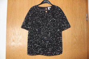 Pailletten T-Shirt schwarz