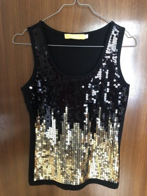 Biba Tank Top black-gold-colored