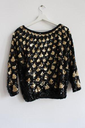 Pailletten/Vintage/Wision  Pullover Gr.38