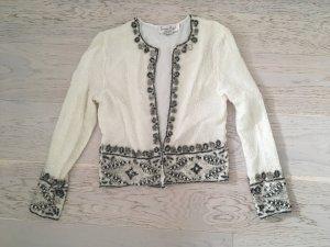 Pailletten Weiß Bluse