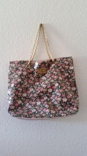 Paillettenbesetzte Handtasche mit Blumenmuster