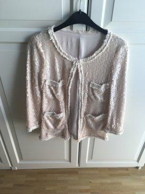 Zara Blazer corto blanco puro-rosa