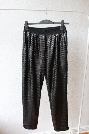 Pantalon taille basse noir polyester