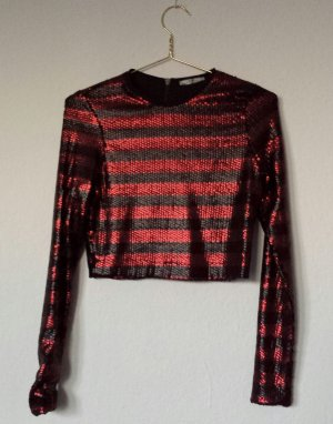 Zara Short Jacket black-red polyester