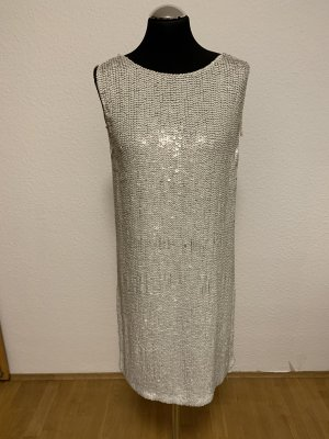 All Saints Sequin Dress white-silver-colored