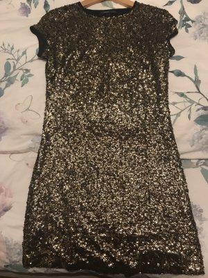 Paillettenkleid Gold schwarz