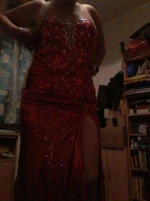 Vestido de baile rojo ladrillo