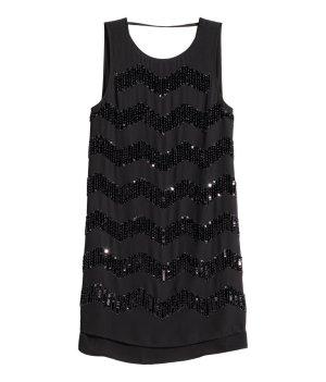 Paillettenkleid H&M neu, mit etikett schwarz partykleid mini gr. s 36