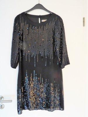 Hallhuber Donna Vestido de lentejuelas negro