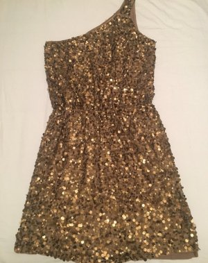PAILLETTENKLEID in Gold, handgemacht