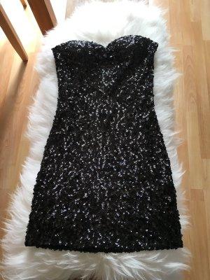 Robe à paillettes noir polyester