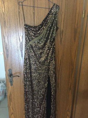 Paillettenkleid in Schwarz-Gold