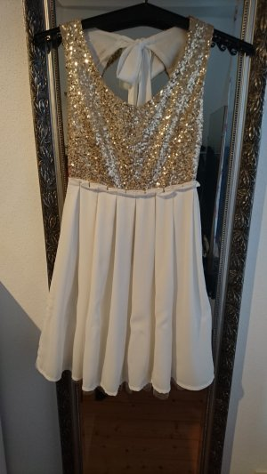 Lookbookstore Sequin Dress natural white-sand brown