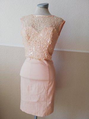 Paillettenkleid Partykleid Miss Selfridge puderrosa rosa Gr. EUR 36 UK 8 D 34 XS