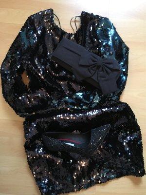 Paillettenkleid (schwarz)