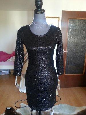 Paillettenkleid schwarz Größe S mit Rücken Cut-Out wie Neu