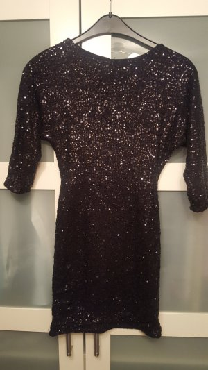 Paillettenkleid schwarz H&M Größe 34