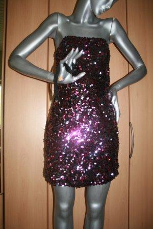 Paillettenkleid von Vila Gr. S pink/schwarz ungetragen