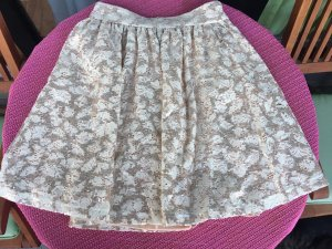Benetton Lace Skirt beige-oatmeal