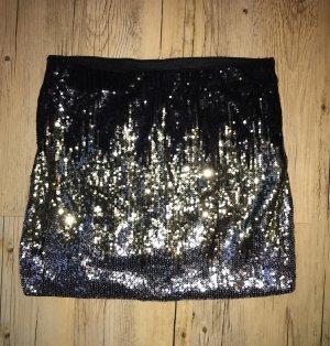 Paillettenrock, Farbe: schwarz, Gr. S