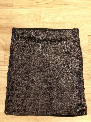 Paillettenrock in schwarz