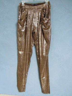 Zara Basic Pantalón estilo Harem marrón oscuro