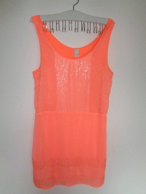 Vila A Line Dress orange textile fiber