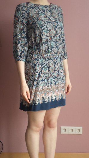 Paisley-Kleid blau-petrol-orange