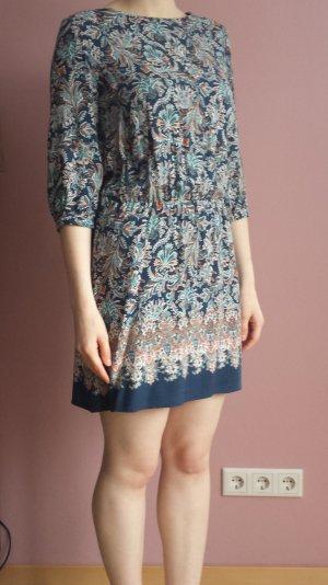 Paisley-Kleid blau-petrol-orange
