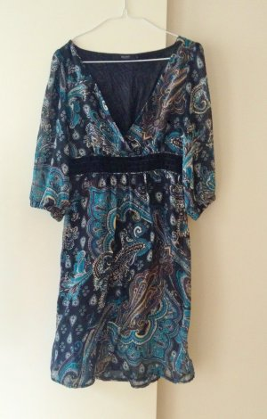 Hallhuber Robe empire multicolore polyester