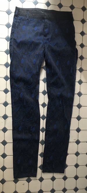 Paisley Muster schwarz blau , skinny Hose , 38