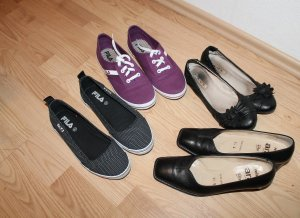 Paket Marken Damen Schuhe Ara Fild Gr. 37 wie neu Lila Schwarz Pumps sneckers