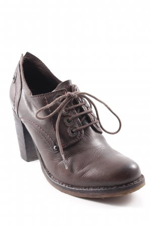 Pakros Lace-up Booties dark brown casual look