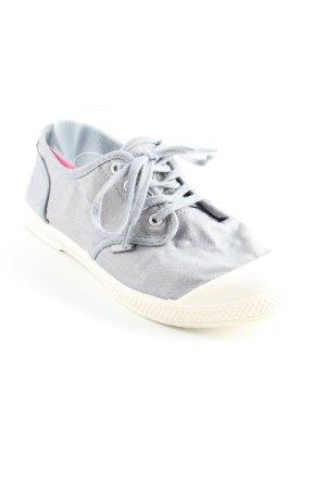 Palladium Schnürschuhe graublau-weiß Segel-Look